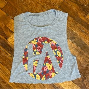Floral cropped workout tank